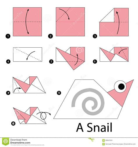 Ryco Handcrafts - how to make origami snail step by step how to make