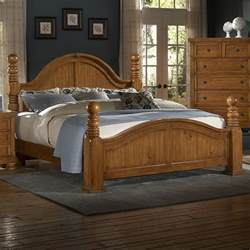 Bed Frames Vaughan Ontario Reflections King Cannonball Poster Bed By Vaughan Bassett