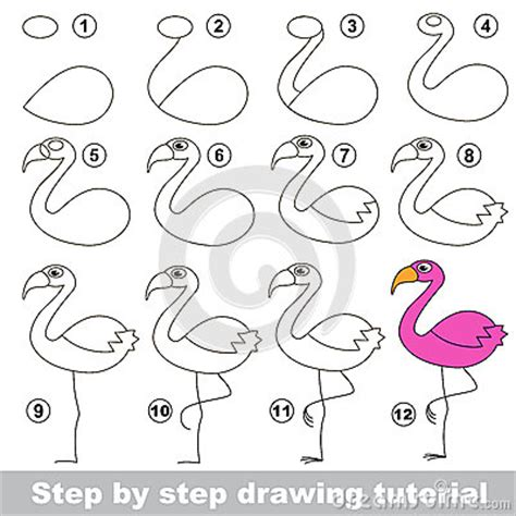 How To Draw A Flamingo Easy