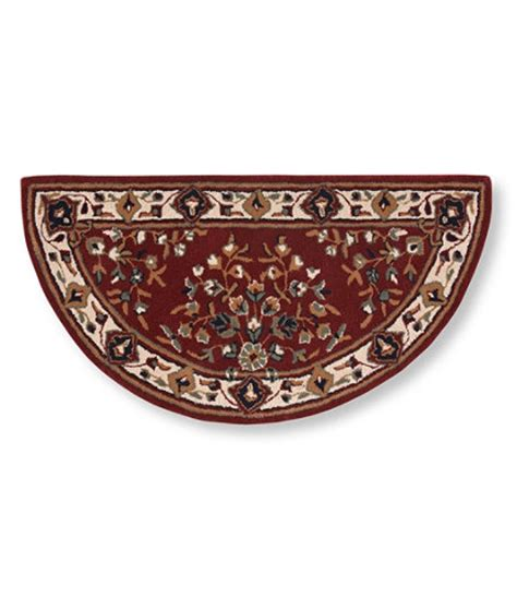 crescent shaped rugs l l bean hearth rug crescent