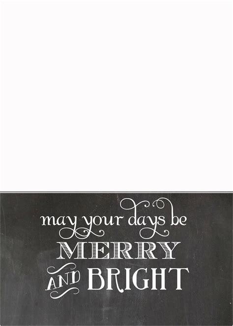 Merry Card Templates Free by Free Chalkboard Card Templates Simplykierste