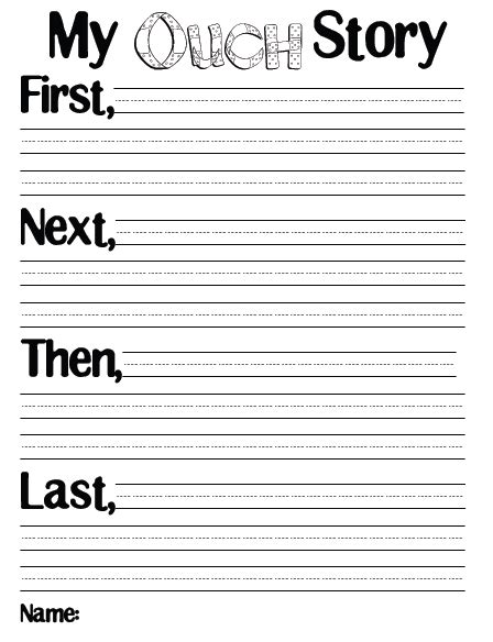 story writing paper for first grade third grade