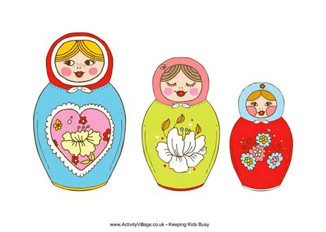 Russian Nesting Dolls Template by 9 Matryoshka Nesting Doll Crafts