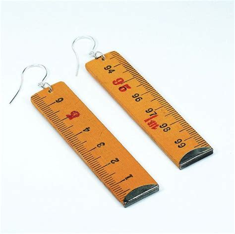 34 Ruler Bracelet From Elsewares by Found Object Jewelry Upcycled Folding Ruler Earrings