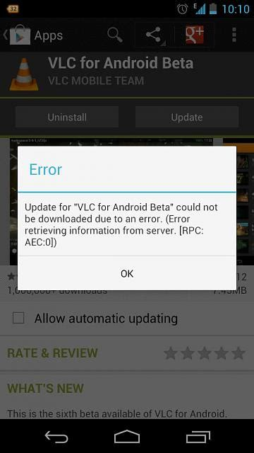 Play Store Can T Error 0 Can T Update Any Apps From Play Store Android