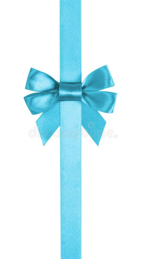 The Tali Ribon Bordier White azure blue ribbon bow vertical border stock image image 43069165