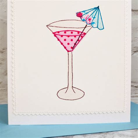 martini birthday card cocktail handmade personalised 30th birthday card by