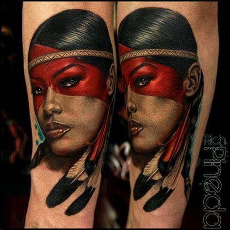 native american indian tattoos for women native american woman rich pineda tattoo living art