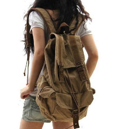 Jansport Standard Army canvas backpack vintage backpacks rucksacks for