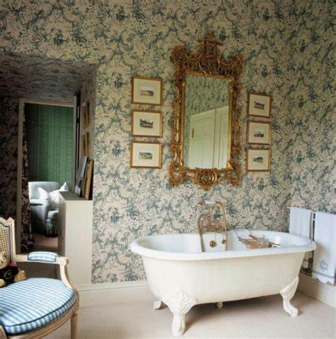 tapeten badezimmer beispiele 50 vintage tapete ideen die dem raum einen