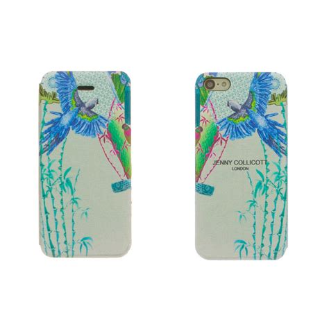 Leather For Iphone 44s55s blue parrot iphone 5c leather pu flip phone by collicott notonthehighstreet