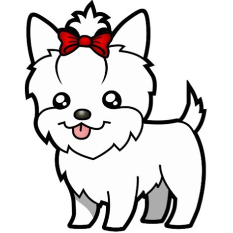 yorkie white hair yorkie white hair with bow acrylic cut outs zazzle