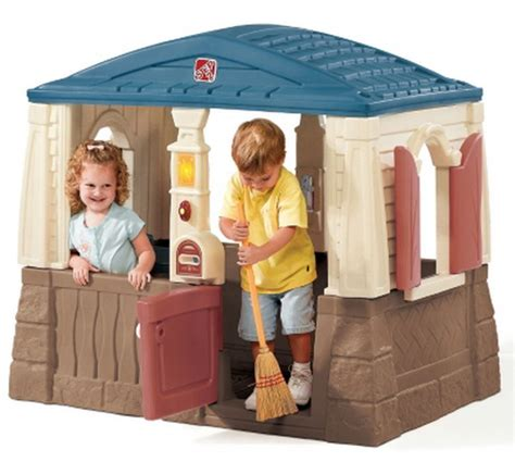 the kids backyard store new large plastic outdoor playhouse cottage kids play