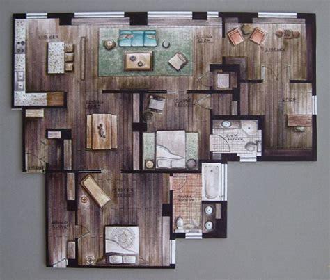 hand rendered floor plan hand rendering interiors google search rendering