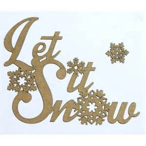 Wood Crafts Christmas - let it snow