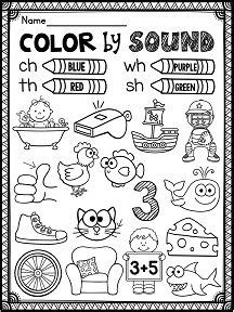 L Blends Coloring Pages by Digraphs Ch Worksheets And Activities No Prep Phonics