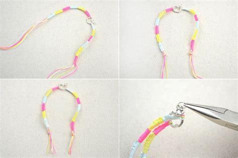 handcrafted jewellery project hemp bracelet patterns  beads     braided