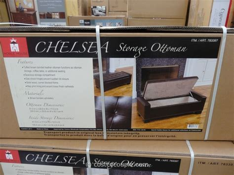 Noble House Chelsea Storage Ottoman Noble House Chelsea Storage Ottoman