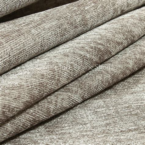 Upholstery Chenille New Soft Plain Grey Chenille Look Fabric Curtains Material