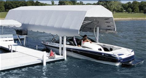 boat canopy skirts boat lift canopies badger docks and lifts