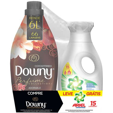 Downy 1 5l kit amaciante downy adorable 1 5l lava roupas l 237 quido