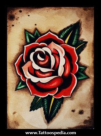 old english rose tattoos school flash school and