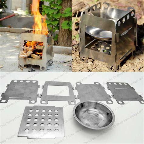 Kompor Kemping jual kompor masak lipat kemping kemah bahan bakar kayu bara api alkohol bela buscent