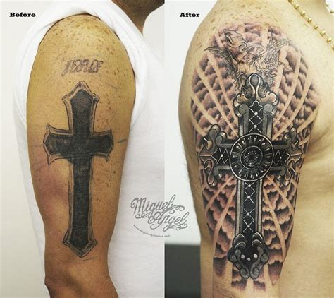 custom cross cover up with detailed cross and clouds