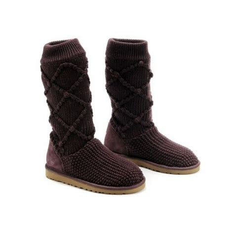 Ugg Classic Argyle Knit Boots 5879 Brown P 7 Best Ideas About Ugg Classic Argyle Knit Price 90 On Cozy Sweaters Popular