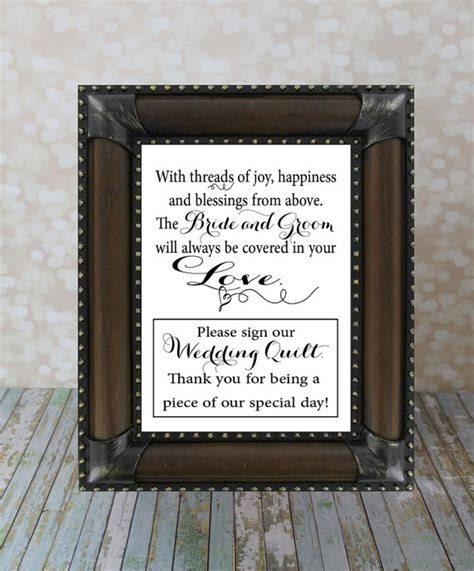 Wedding Quilt Sign sign our wedding quilt guest book wedding guest book