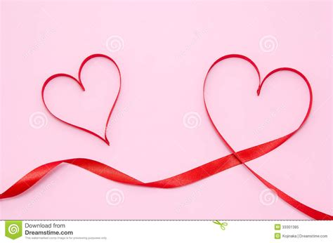 red and pink background royalty free stock images image red heart ribbon royalty free stock photo image 33301385