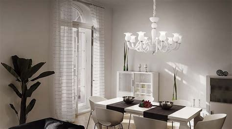 sale da pranzo eleganti in quali stanze usare ladario vetro di murano