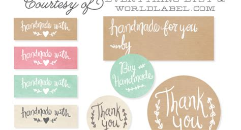 Labels For Handmade Crochet Items - your knitted and crochet items even more