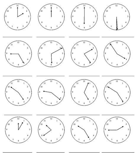 generador de ejercicios para aprender la hora y leer el reloj c30 la hora para los estudiantes de espa 241 ol ele