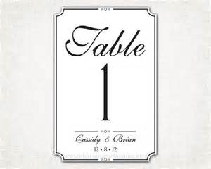free printable wedding table numbers templates 301 moved permanently