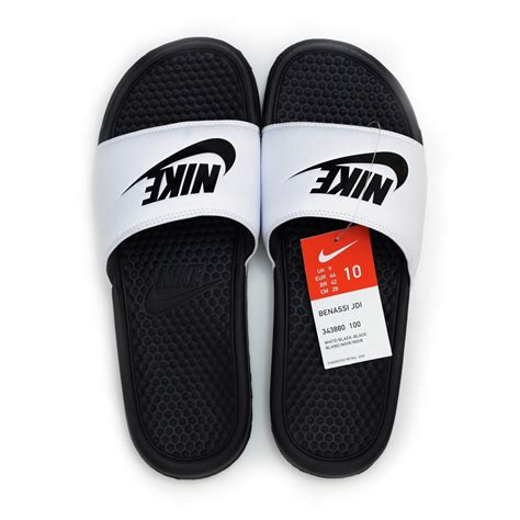 nike sandals white nike benassi jdi womens athletic sandals slide black white