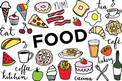 clipart food food clip clip food collage sheet