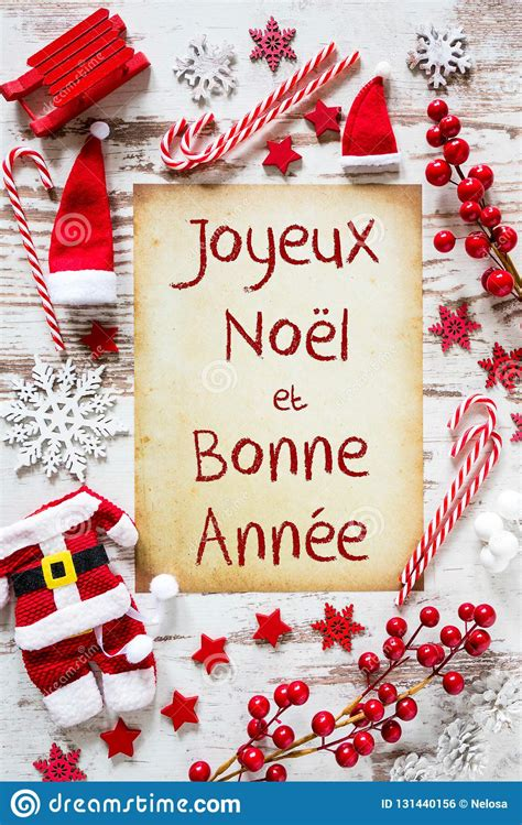 bright christmas flat lay bonne annee means happy  year stock photo image  winter