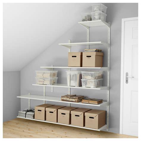ikea wall shelving algot wall upright shelves white 189x41x57 197 cm ikea