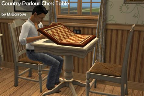 chess table chairs sims 3 mod the sims country parlour chess table