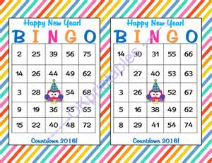 30 new years bingo cards printable new okprintables