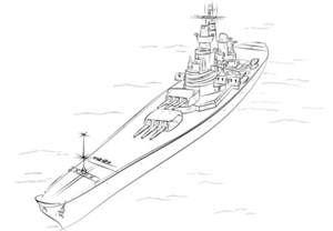 image gallery battleship outline sketch coloring page