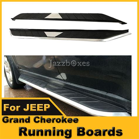 2014 Jeep Grand Running Boards Aluminum Chrome Running Boards Nerf Bars Side Step For