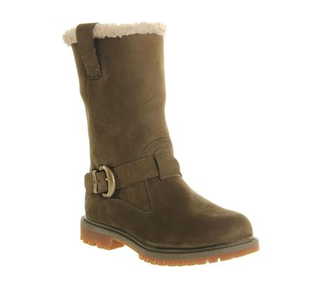 timberland boots on timberland nellie pull on boots in green olive lyst