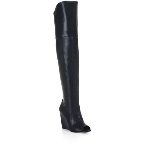 bcbg maxazria gian peep toe wedge thigh high boots 230