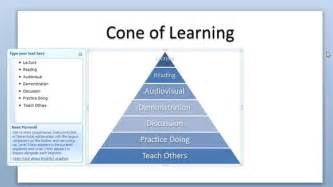 goal pyramid template cone of learning powerpoint template