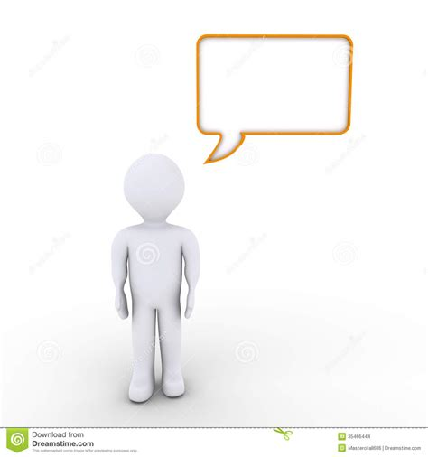 bobble person a person and a speech stock images image 35466444