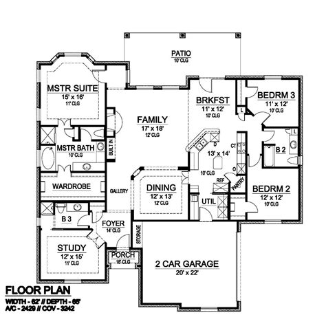 bradford floor plan bradford 6412 3 bedrooms and 3 5 baths the house designers