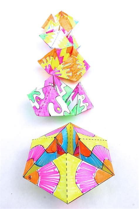 origami paper toys flextangles you ve never seen a paper like this