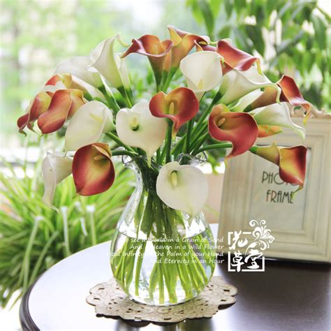 Artificial Flowers For Dining Table Artificial Calla Artificial Flower Mini Single Calla Decoration Flower Artificial